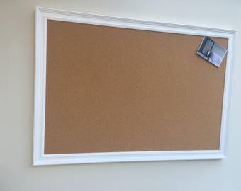 Giant cork pin board. Cork bulletin board. Cork memo board. Cork message board. Framed cork board. White framed notice board White pin board