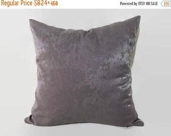20%off Gray Pillow, Grey Velvet Pillow, Grey Velvet Pillow Cover, Grey Velvet Decorative Pillow, Grey Velvet Couch Pillow, Gray Velvet Bed P