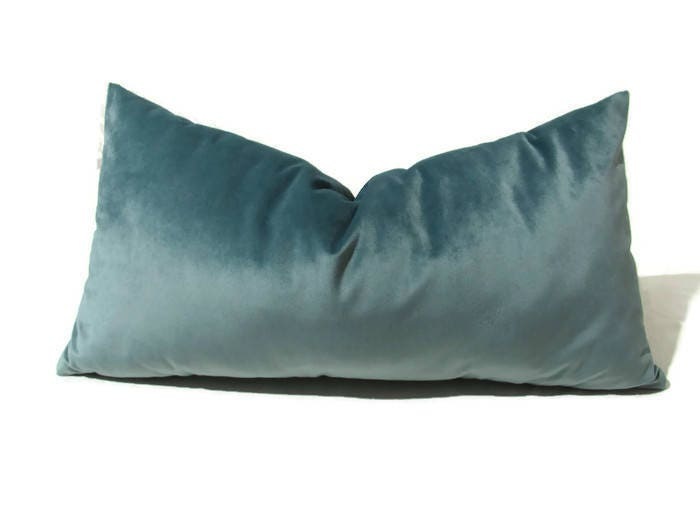 Blue Pillow Steel Blue Pillow Blue Cushion Blue Pillow