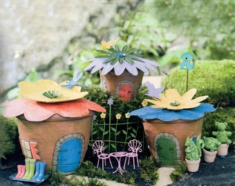 Whimsical Fairy Garden Kit, Miniature Flower Pot House Kit With Bright  Pastel Accessories, Fairy