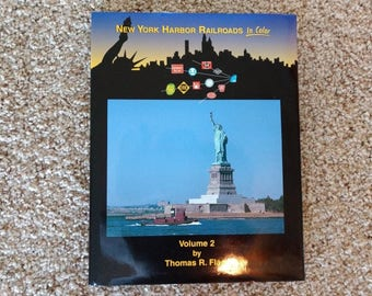 railroad memorabilia, railroad book, New York Harbor Railroads In Color, Volume 2, Thomas R Flagg, HC, railroad collector, train collector