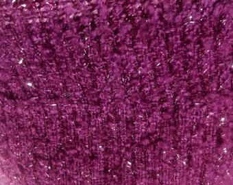 free shipping berry  weaved polyester tweed fabric by  meter  59""