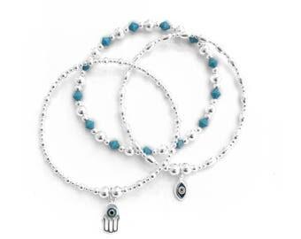 Evil Eye Turquoise Bracelet Trio