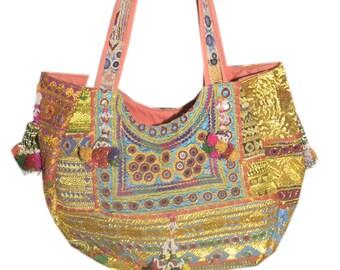 Banjara Tribal Boehemien Handmade Vintage Patchwork Hand Embroidered Bag
