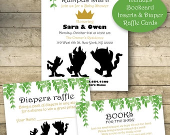 Where the wild things are baby shower invitations Etsy