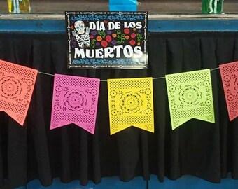 Papel Picado Banner. Fiesta Banner