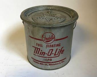 Min-O-Life Tin Minnow Bucket