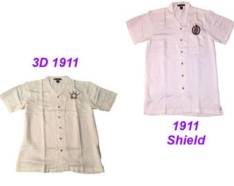 Cream Colored (Omega Psi Phi) (Shield) (3D 1911)