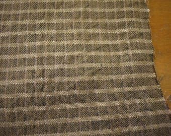 Chomthong Handwoven brown cotton (2m), handwoven textile  - Fairtrade traditional handmade product - Thai chomtong fabric