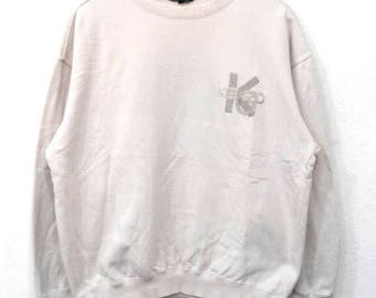 RARE!!! Kenzo Golf Small Logo Embroidery Crew Neck Sweatshirts Hip Hop Swag M Size
