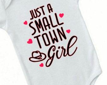 Just a small town girl - Just a small town - Just a small town girl onesie - Small town girl - Baby shower gift - Baby - Journey - fashion