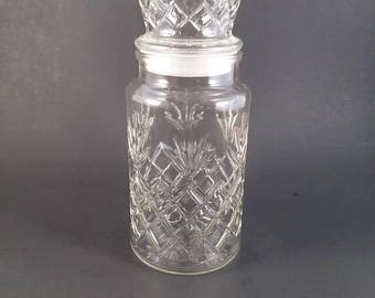 Planter's Peanut Jar  Decorative Glass Jar with Lid