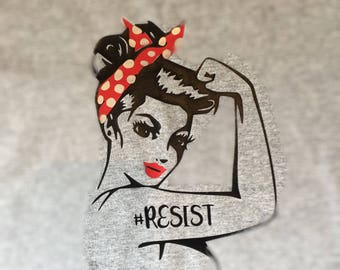 Rosie the Riveter We Can Do It Ladies T-Shirt She Persisted Shirt - Nevertheless Shirt - She Persisted Shirt - Feminist Tshirt - RESIST