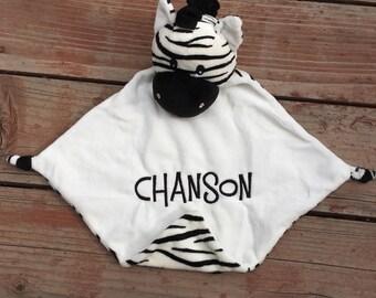 Zebra lovey Baby Blanket