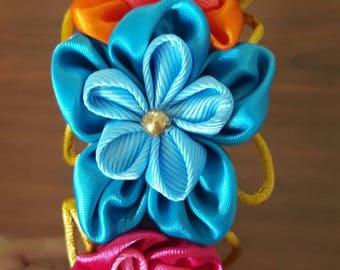 Kanzachi flower girl headband