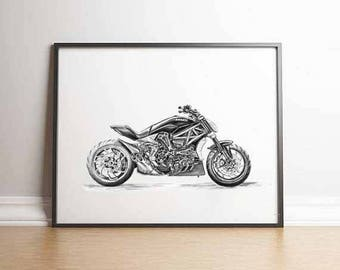 Superbike Motorcyclist Gift Ducati Gifts Ducati Ducati Print Gift Men Motorcycle Gift Ducati Gift Ideas Ducati Motorcyclist Ducati