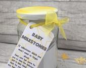 Baby Milestones  Jam Packed Jars  New Baby Milestones  Milestone Cards  New Baby  New Baby Gifts