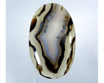 90Cts Montana Agate Cabochon Loose Gemstone Oval Shape Natural Montana Agate Top Quality For Jewelry Making 49X30X7mm