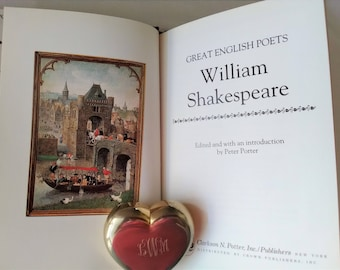 William Shakespeare Great English Poets Series, Small Illustrated Shakespeare Collection, 1987 Illustrated Shakespeare Volume