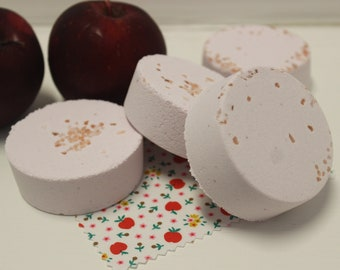 Red Apple Bath Bomb, Apple Scent, Fresh Apple, Bath Bomb, Easter Gift, Mother's Day Gift, Bath and Beauty, Spa Gift, Bath Fizzie, Apple