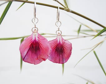 Outstanding French geranium - Flower petals resin jewelry