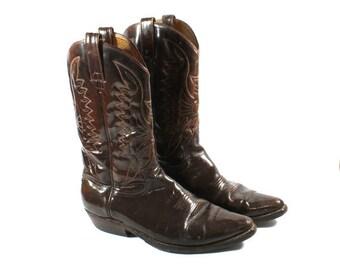 Vintage Cowboy Boots, Mens Botas, Western Boots Made In Mexico, Leather Brown Boots, Made In Mexico, Boots, Size 10.5