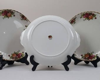 Royal Albert Old Country Roses Handled Cake Plate Serving Tray Bone China England