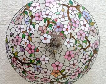 "Stained glass chandelier ""Sakura"""