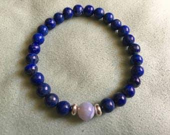 """Lapis lazuli stretch bracelet 7"""""""