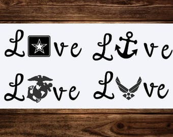 Military Love Decals