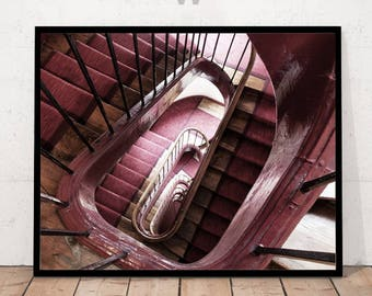 Spiral Stair Photography, Spiral Stair Print, Staircase Print, Staircase Art,  Staircase Photography
