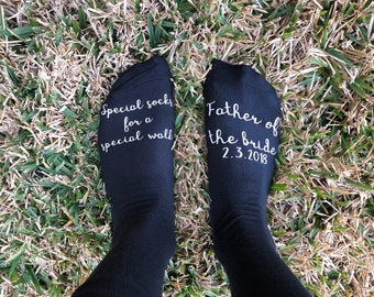 Father of the Bride, Custom Socks Gift, Father of the Bride Gift, Bride Father Socks, Special Walk Socks, Father of Bride, Dad Wedding Socks