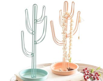 Jewelry Holder Jewelry Organizer Cactus Jewelry Rack Necklace Holder