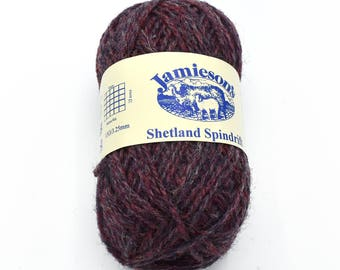 British Yarn - Fair Isle Wool - Knitting Wool - Jamiesons of Shetland - Purple Wool - Shetland Wool - Yarn Sale - Wool Yarn - Shetland Yarn