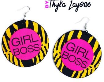 Girl Boss Afro earrings - earrings ethnic Girl Boss