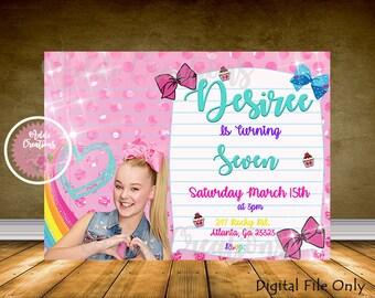 Jojo Siwa Invitations, Jojo Siwa Birthday Invitation, Jojo Dance Moms Invitation, Jojo Siwa Party Invitations