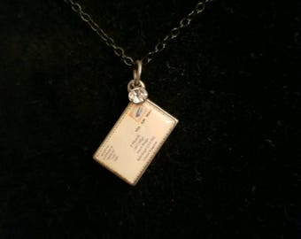Postcard Necklace