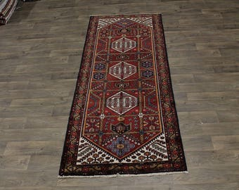 Great Shape Runner Tribal Dorzajan Hamedan Persian Area Rug Oriental Carpet 4X10