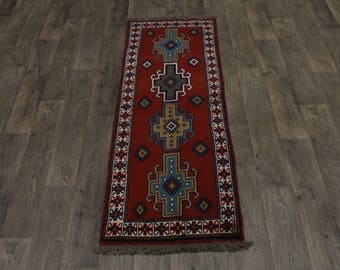 Genuine Handmade Tribal Runner Ghoochan Persian Area Rug Oriental Carpet 2X7