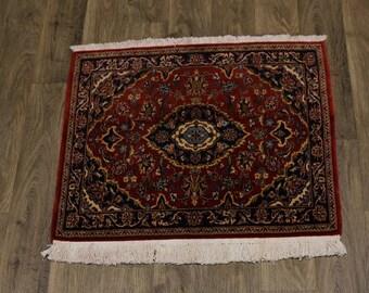 Amazing Classic Design Unique Kashan Persian Rug Oriental Area Carpet 2'9X3'1