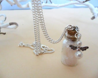Guardian Angel and feather necklace