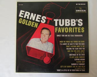 Ernest Tubb Vinyl LP, Ernest Tubb's Golden Favorites, Ernest Tubb and His Texas Troubadours, Vinyl LP Ernest Tubb Compilation ca.1961