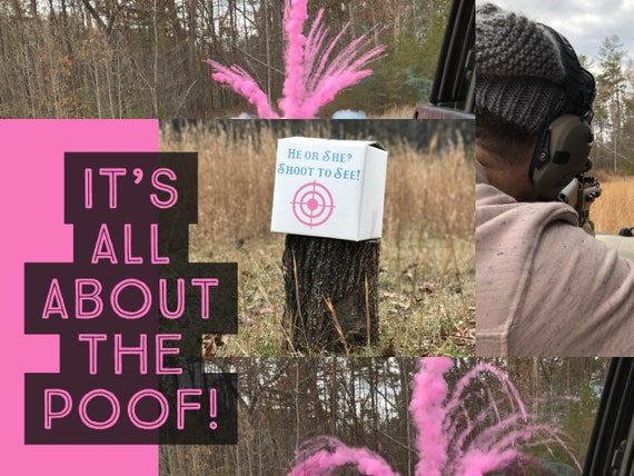 POWDER BOX TARGET™  Ships Same Day! Epic Shooting Target Gender Reveal New Creative Gender Reveal Idea!