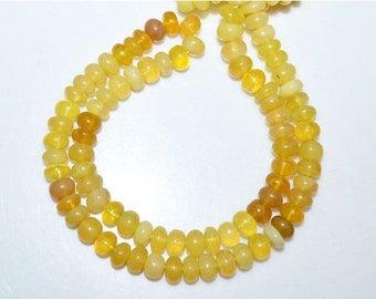50% OFF Yellow Peruvian Opal Smooth Rondelle Beads 18 Inch Strand ,Yellow Peruvian Opal Smooth Rondelle  , 7.50-8.50 mm - MC518B