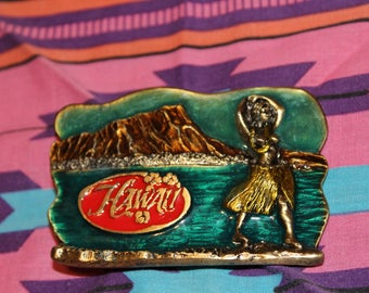 Vintage Hawaii belt buckle // 70s belt buckle // 70s hawaii belt buckle // hawaiian belt buckle // vintage belt buckle // 80s belt buckle //