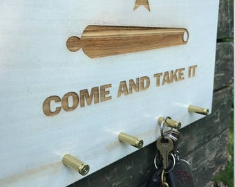Come and Take It Key Rack Key Holder Key Hook Key Hanger Key Hooks Wall Key Rack Key Storage Key Organizer Gift For Him Rustic Wood Sign