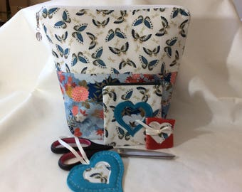 Japanese Butterfly Garden large project bag and accessories 1