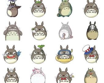 Totoro Alideco cute kawaii washi sticky masking deco tape