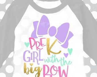 Pre-K svg, Pre-K Girl svg, Preschool svg, Back to school svg, Girls svg, DXF, EPS, svg, pre k svg, kindergarten shirt, svgs,