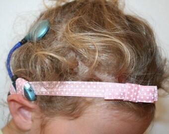 Bandeau avec noeud enfant/adulte pour implant cochléaire ou prothèse auditive - Headband for cochlear implant or hearing aids